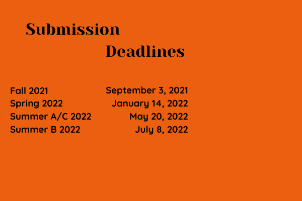 Deadline to submit is Fee Payment Deadline